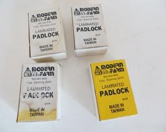 Old Padlocks, Never Used Laminated in Original Box