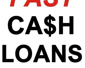 Fast Cash loan Banner sign 3 x 2 FT