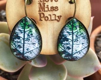 Tall trees boho style earrings