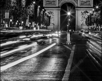 Black and White, Paris Photography, Paris France Photography , Fine Art Photography, Paris Pictures, Arc de Triomphe, Champs Elysees