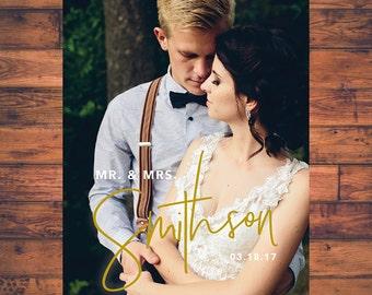 Wedding Thank You Card Photo Card Love and Thanks Postcard Thank you Cards Photo Notecard Digital Printable thx_07