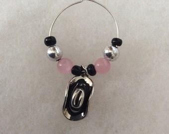 Wine Glass Charm/Western Charms/Cowgirl Wine Charm/Stemware Charms/Personalized Wine Glass/Handmade Stemware Charms