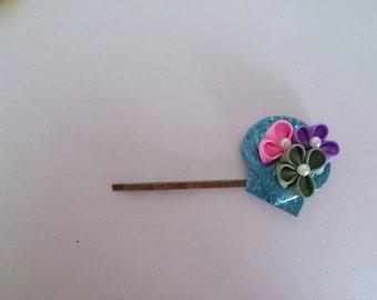 Thumb filigree flower hairpin 8-7