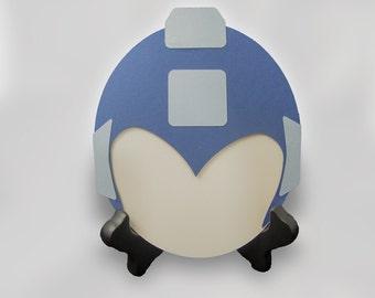 Mega Man Helmet Birthday Card or Invitation