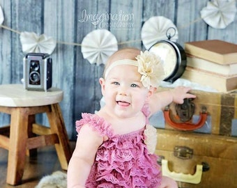 Easter Outfit, Rose Girl Outfit, lace rompe, .birthday outfit, Wine Rose, petti romper, Baby, Toddler, Girls, 0M, 3M 6M 12M 2T 3T, RTS