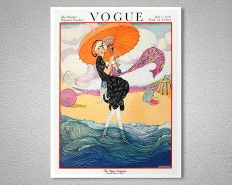 Vogue Cover July 1, 1919 Vintage Vogue Poster - Poster Print, Sticker or Canvas Print