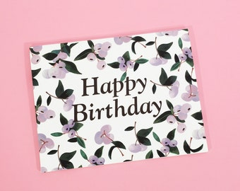 Snowberries Birthday Card