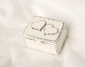 Engagement Ring Box Proposal Ring box Wedding Ring Box Rustic Ring Bearer Box Hearts Proposal Ring box Wooden