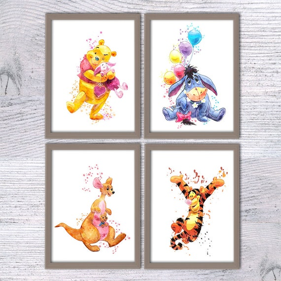 Winnie The Pooh And Friends Poster Set Of 4 Winnie The Pooh