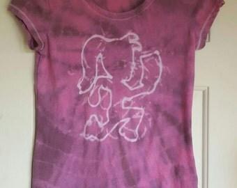 Psychedelic Hatchet Girl Handmade Tie Dye Shirt