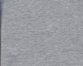 Heather Gray Cotton Lycra knit Solids 22 colors fabric