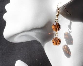 Swarovski Smoke Topaz Earrings