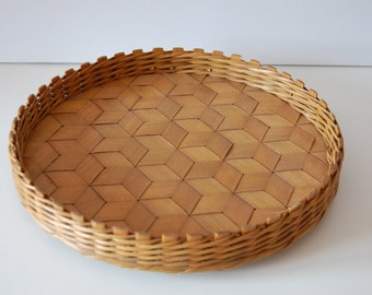 Serving tray bamboo wicker cork