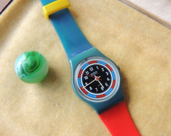 Vintage 1985 Swatch Quartz Watch