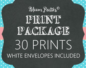 PRINT PACKAGE - 30 Invitations - White Envelopes Included