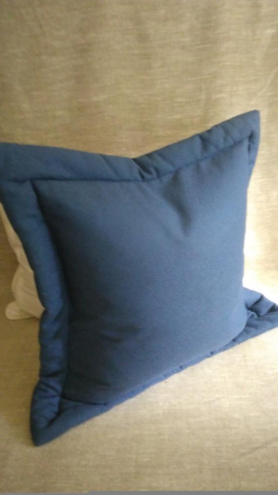 navy blue euro sham with flange light navy cadet blue. Black Bedroom Furniture Sets. Home Design Ideas