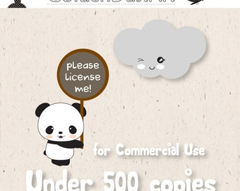 Commercial Use License (No Credit Required) for Under 500 copies