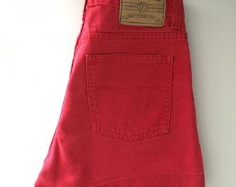 Vintage 80's Jordache Red Denim High Rise Shorts