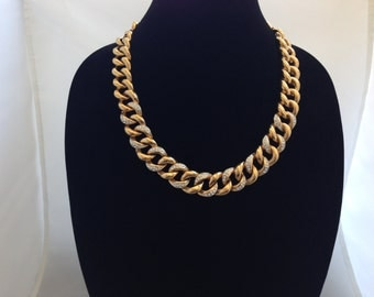 """23"""" Vintage Costume Necklace Circa Late 80's Early 90's."""