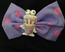 Monsters inc Boo and Sully hair bow
