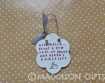Humorous Cinderellas Shoes Quote Gift Plaque Wall Hanging Ornament Home Decor Card Alternative