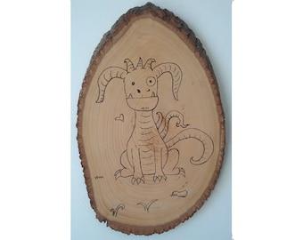 Woodburning - Derpy Dragon