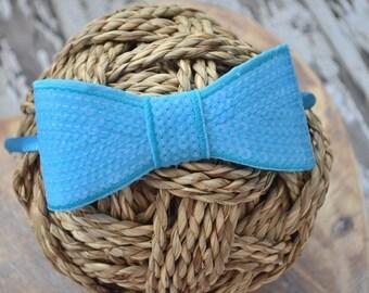 Neon Blue Hard Headband