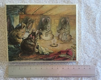 Beatrix Potter Illustrated Wooden Wall Plaque