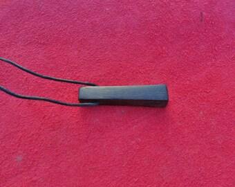 Bog Oak Stave Pendant
