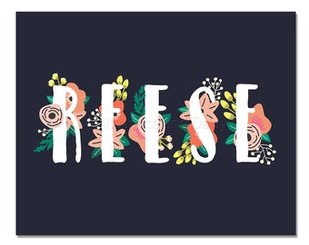 Reese Personalized Name Sign Personalized Baby Gift Nursery Wall Art Baby Shower Decor Personalized Name Baby Gift Custom Name Art