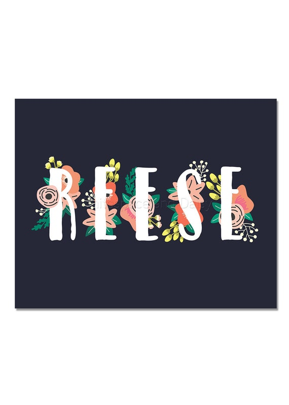 Reese Personalized Name Sign Personalized Baby Gift Nursery