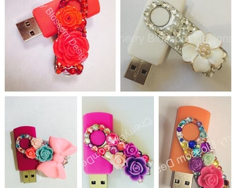 Hand decorated USB memory stick 4GB