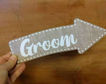 28cm Groom Photo Booth Arrow Sign Wedding Photo Booth Prop Wedding Sign 013-711