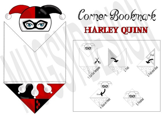 Insane image within corner bookmarks printable