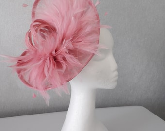 Beautiful Dusky Pink Fascinator