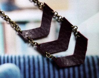 BOHO geometric necklace long