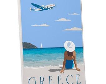 Steve Thomas 'Greece' Gallery Wrapped Canvas Print