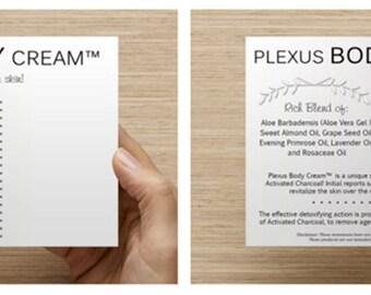 Plexus Body Cream Sample Card