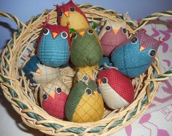 Handmade Fabric Owl