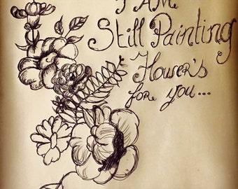 Painting Flowers sketch