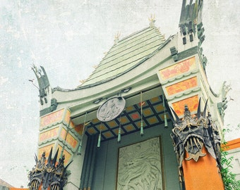Los Angeles Photography, Grauman's Chinese Theatre, Hollywood, California, Architecture, Fine Art Print, Wall Art, Home Decor