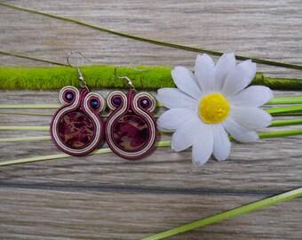 earrings / soutache technique / handmade (nr127)