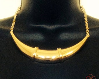 Fitbit Necklace for Fitbit Flex Fitness Activity trackers - The GOLDEN GWYNETH Gold Crescent Wearable Tech Statement Necklace -Free Shipping