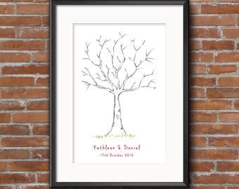 Printable Wedding Thumbprint Tree Guestbook