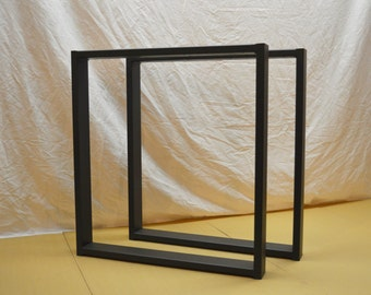 "24""x27""x3"" Flat Black Steel Table legs Square Contemporary Table legs"
