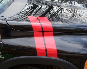 2002 - 2008 Ram 1500 2500 3500 Fender hood hash mark Stripes Stripe Decals Decal Graphics