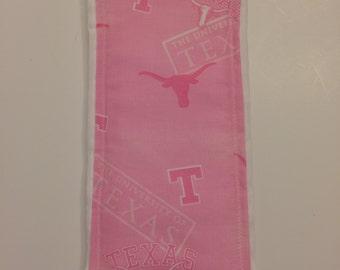 University of Texas Pink - Burp Cloth