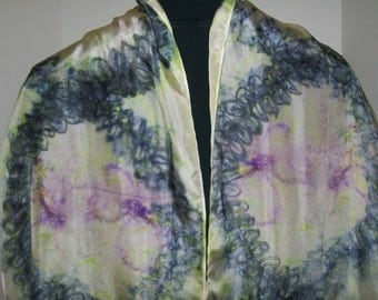 Fun Wearable Art - Hand Painted Silk Scarf