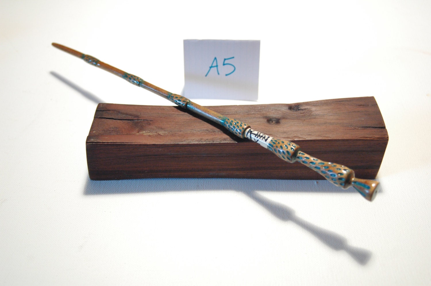 15 elder hand carved magic wand with green accents for Elder wand runes