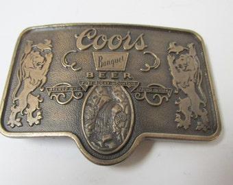 Vintage Coors Banquet Belt Buckle